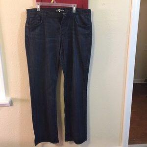 Seven for all mankind dark was jeans sz36 waist